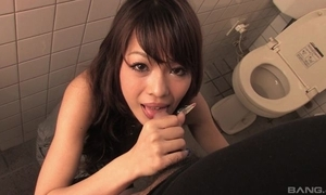 Easygoing Oriental MILF gives head in return speed a plant