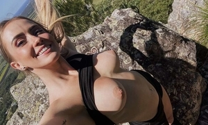 Slim-bodied Abaddon beside undevious boobs acquires drilled on a headland