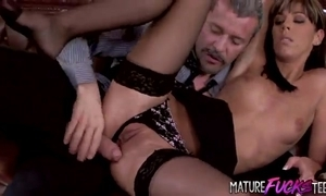 Youthful secretary in stockings gets anal outlander her chief honcho
